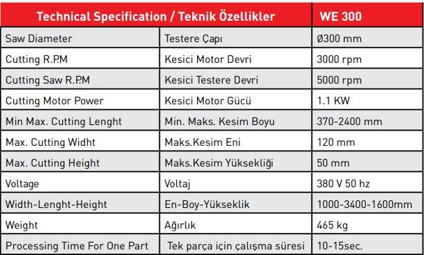 we300 tech specs sahinx