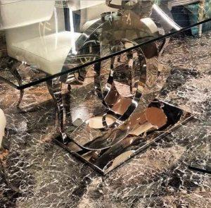 sahinx metal coating coffee table dresuar interior design
