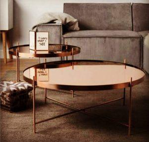 Metal coating coffe table sahinx interior design